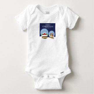 Body Para Bebê Feliz Natal e globo da neve do feliz ano novo