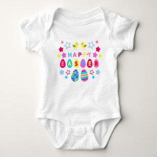 Body Para Bebê Felz pascoa - 2 pintinhos e estrelas