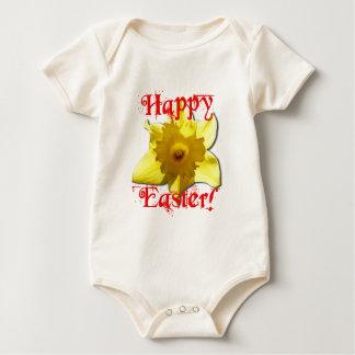 Body Para Bebê Felz pascoa, Daffodils 02.T