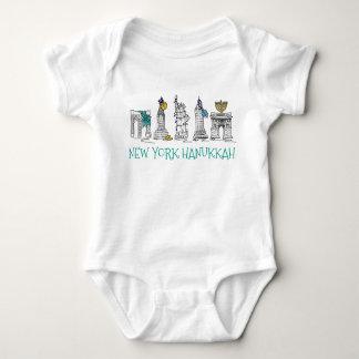 Body Para Bebê Feriado judaico da Nova Iorque NYC Hanukkah