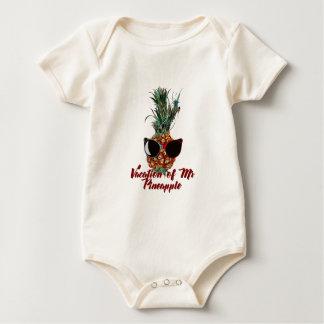 Body Para Bebê Férias do abacaxi. Impressão do humor