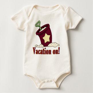 Body Para Bebê Férias no bodysuit do bebê da pá da praia