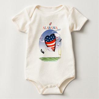 Body Para Bebê fernandes tony altos e orgulhosos de Alabama,