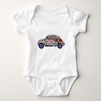 Body Para Bebê Fiat clássico com crânios do açúcar
