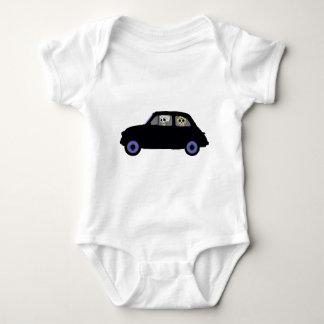 Body Para Bebê Fiat com os 2 crânios do açúcar que olham o