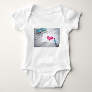 Body Para Bebê Figura amor dos Pastels do cartão do coração do