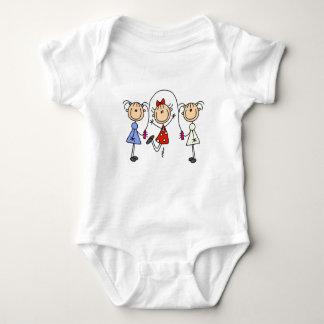 Body Para Bebê Figura corda da vara de salto das meninas