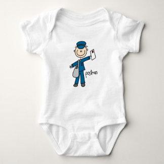 Body Para Bebê Figura da vara do trabalhador postal