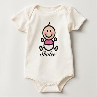Body Para Bebê Figura personalizada menina da vara do bebê