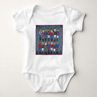 Body Para Bebê Figuras do natal vintage, soldados idosos