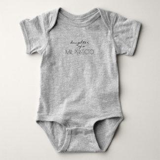 Body Para Bebê Filha/Wifey de um Sr. Perfeito (o)