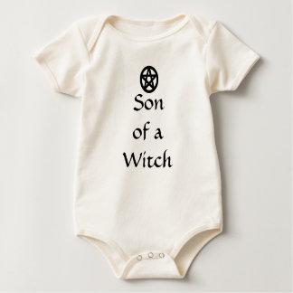 Body Para Bebê Filho da roupa pagã de um bebê do Pentacle da