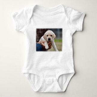 Body Para Bebê Filhote de cachorro amarelo do laboratório que