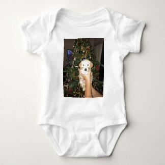 Body Para Bebê Filhote de cachorro de GoldenDoodle com árvore de