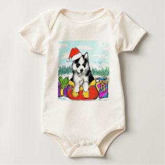 Body Para Bebê Filhote de cachorro do Malamute do Alasca