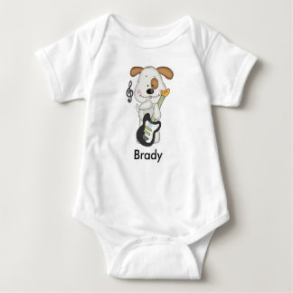 Body Para Bebê Filhote de cachorro do rock and roll de Brady
