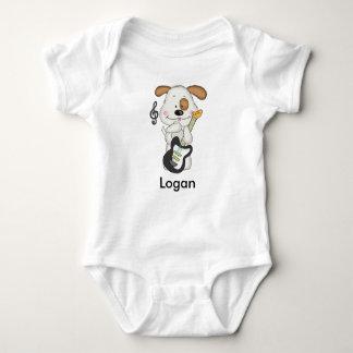 Body Para Bebê Filhote de cachorro do rock and roll de Logan