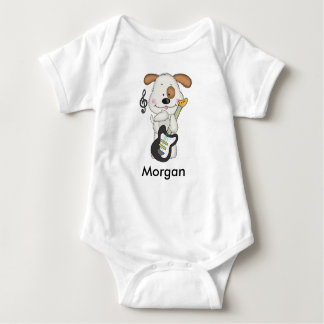 Body Para Bebê Filhote de cachorro do rock and roll de Morgan
