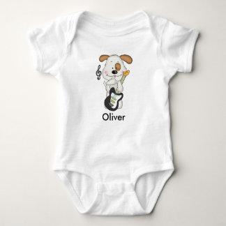 Body Para Bebê Filhote de cachorro do rock and roll de Oliver