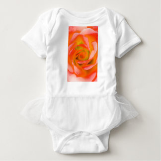 Body Para Bebê Fim-acima cor-de-rosa da laranja