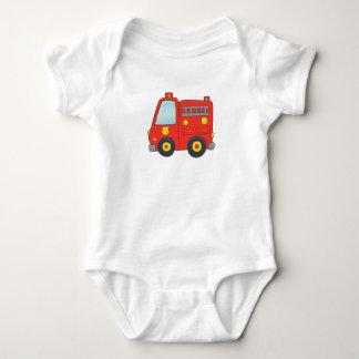Body Para Bebê Firetruck customizável bonito