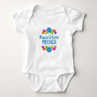 Body Para Bebê Física do amor da paz