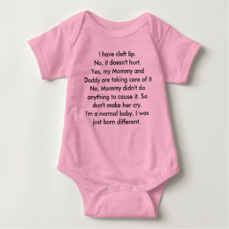 Body Para Bebê Fissura congénita do lábio superior