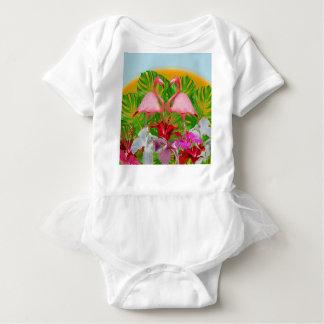 Body Para Bebê Flamingo