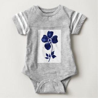 Body Para Bebê Flor azul