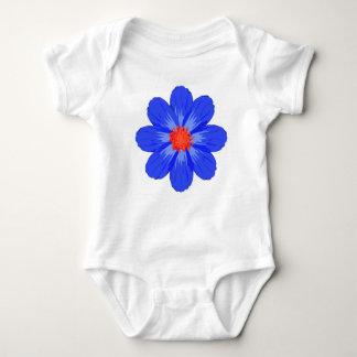Body Para Bebê Flor azul brilhante para o bebê