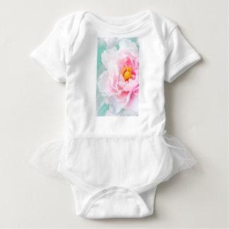 Body Para Bebê Flor cor-de-rosa chave alta da peônia