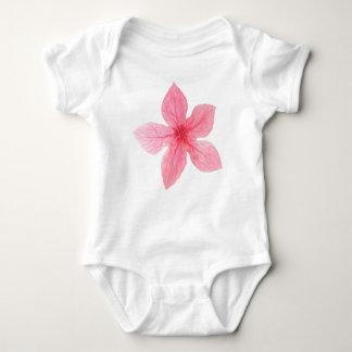 Body Para Bebê flor cor-de-rosa da aguarela