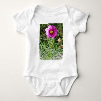 Body Para Bebê Flor cor-de-rosa escura da margarida do cosmos