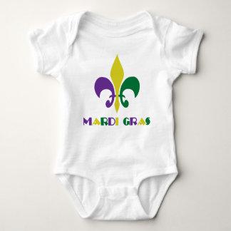 Body Para Bebê Flor de lis do ~ do carnaval