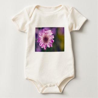 Body Para Bebê Flor de Scabiosa da lavanda