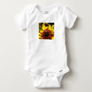 Body Para Bebê Flor e abelha amarelas