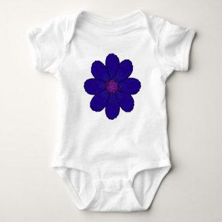 Body Para Bebê Flor escura do azul da lavanda