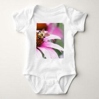 Body Para Bebê Flor roxa do cone com abelha