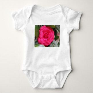 Body Para Bebê Flor vermelha do japonica Rachele Odero da camélia