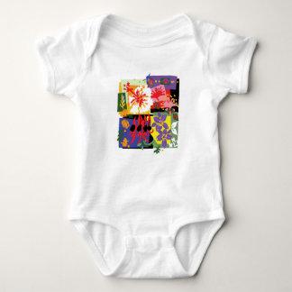Body Para Bebê Floral - bodysuit do jérsei do bebê