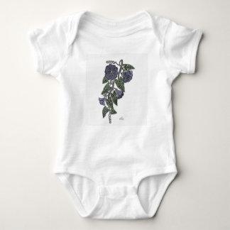 Body Para Bebê Flores 2 do laço
