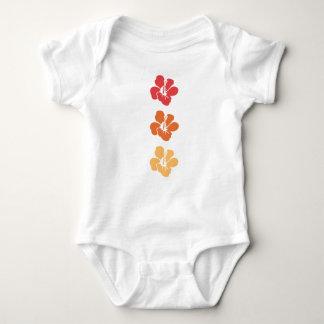 Body Para Bebê Flores coloridas do hibiscus