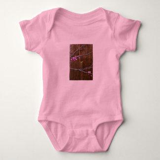 Body Para Bebê Flores da árvore de cereja e rosa de bebê de