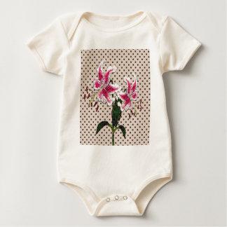 Body Para Bebê Flores do vintage