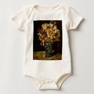 Body Para Bebê Flores em um vaso