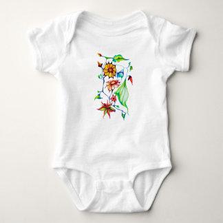 Body Para Bebê Flores exóticas lunáticas chiques elegantes