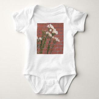 Body Para Bebê Flores no tijolo