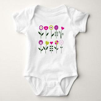 Body Para Bebê Flores populares luxuosas no branco