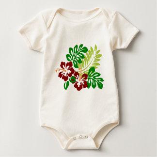 Body Para Bebê Flores tropicais do hibiscus