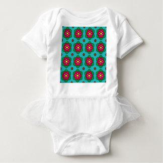 Body Para Bebê Flores vermelhas